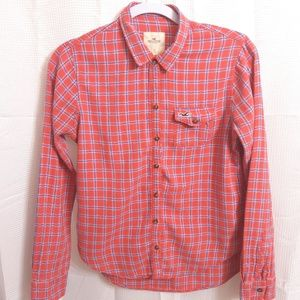 Hollister Long Sleeve Button Up Womans Shi…